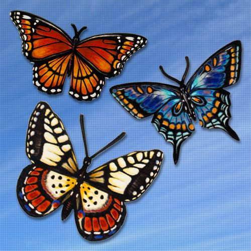Butterfly Trio Magnetic Screen Saver Series Storm Doors Insects