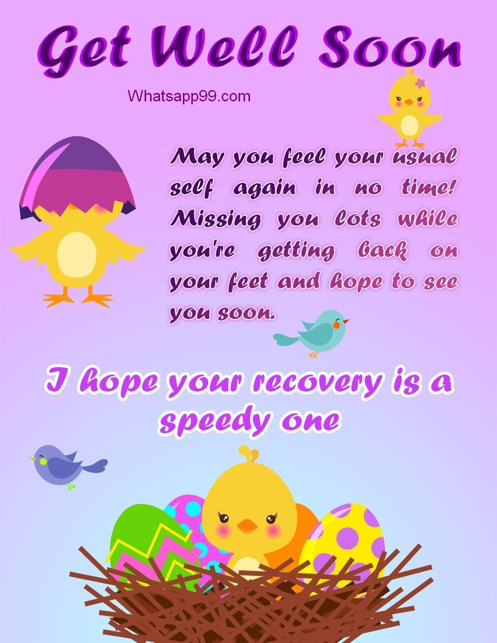 Hope Your Recovery Is Speedy One Get Well Cards Pinterest