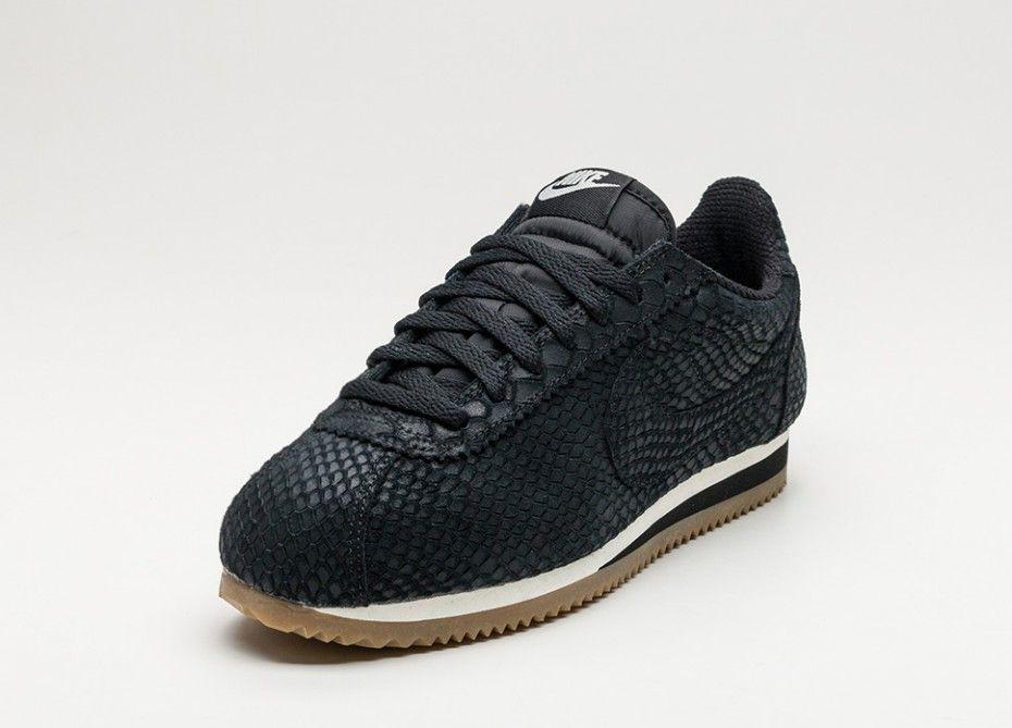 Nike Classic Cortez Leather PRM (Black / Black Gum Light Brown