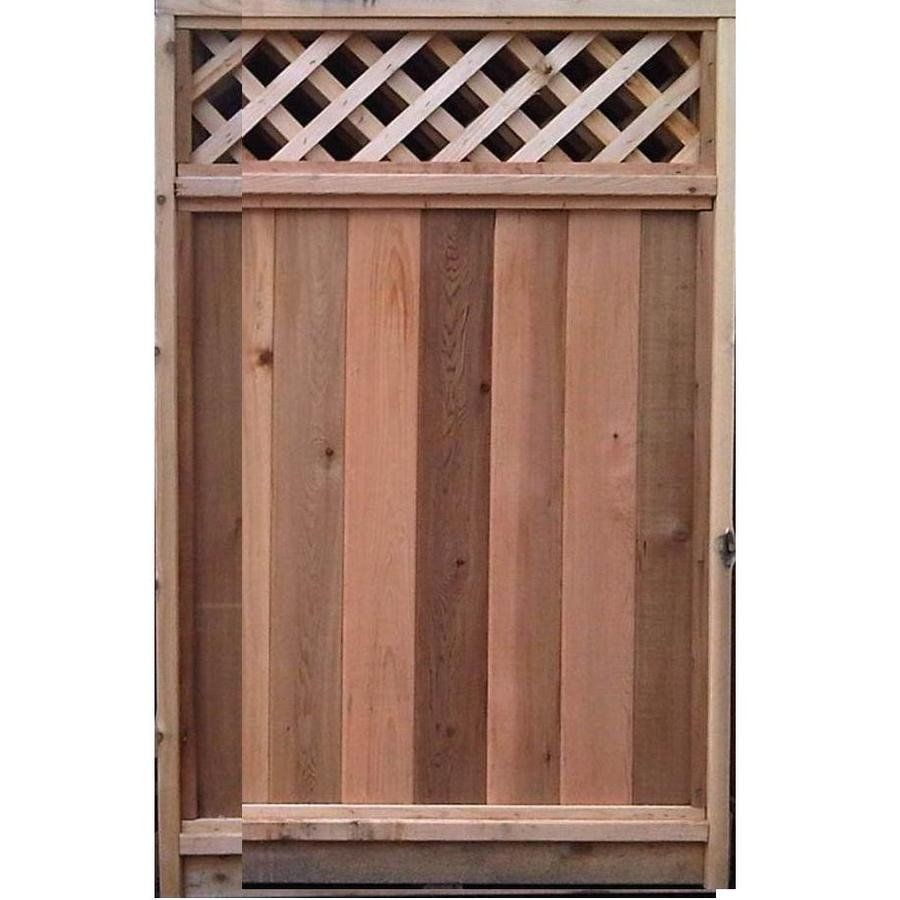 6 ft x 3 ft cedar fence gate with diagonal lattice top lowes 6 ft x 3 ft cedar fence gate with diagonal lattice top lowes baanklon Choice Image