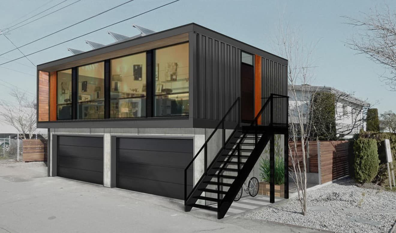 Unique Shipping Container Garage Plans 11 | Backyard