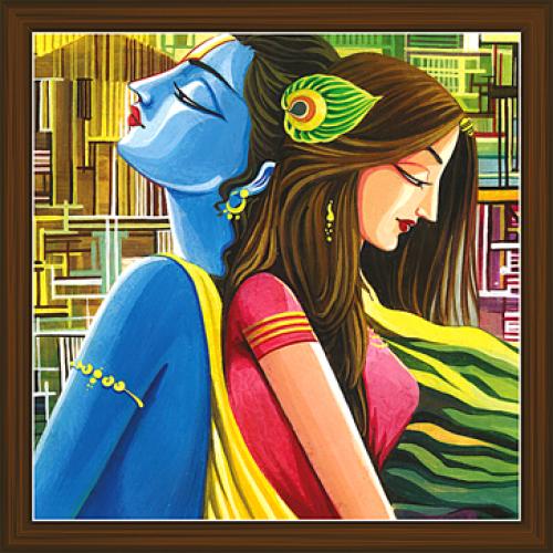 Radha Krishna Modern Art Paintings   Modern art paintings ...