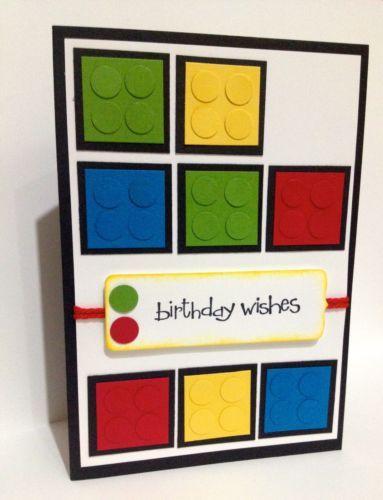 Handmade lego birthday card stampin up ebay tarjetas pinterest handmade lego birthday card stampin up ebay bookmarktalkfo Image collections