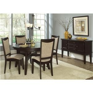 Ashby Oval Leg Table Set With 4 Upholstered Chairs By Liberty Furniture