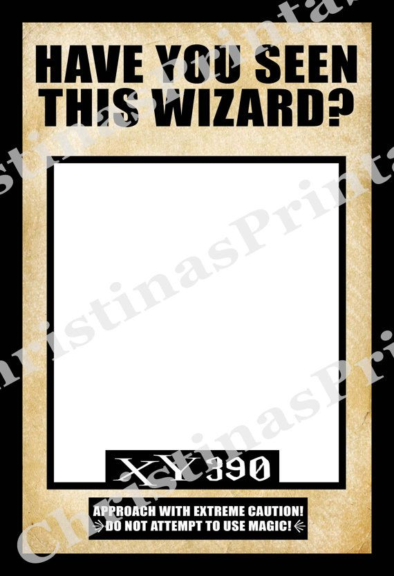 photo relating to Have You Seen This Wizard Printable known as Pin upon Harry Potter