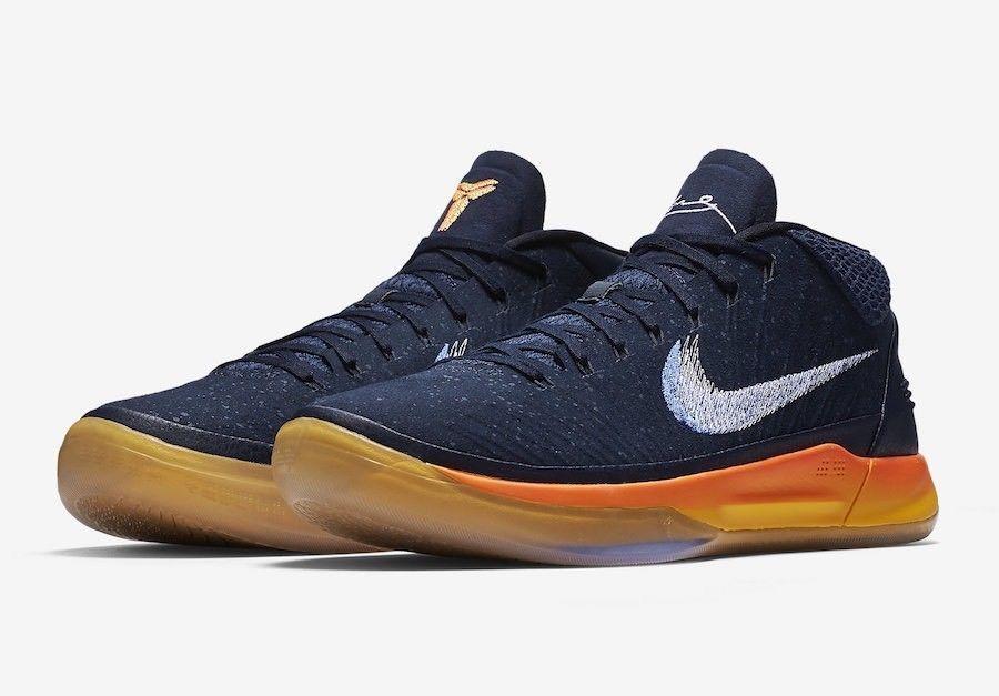 the latest d979c b50bf Nike Kobe AD Mid Sunrise Basketball Shoes Mens 10 Obsidian Mega Blue 922482  401 Nike BasketballShoes
