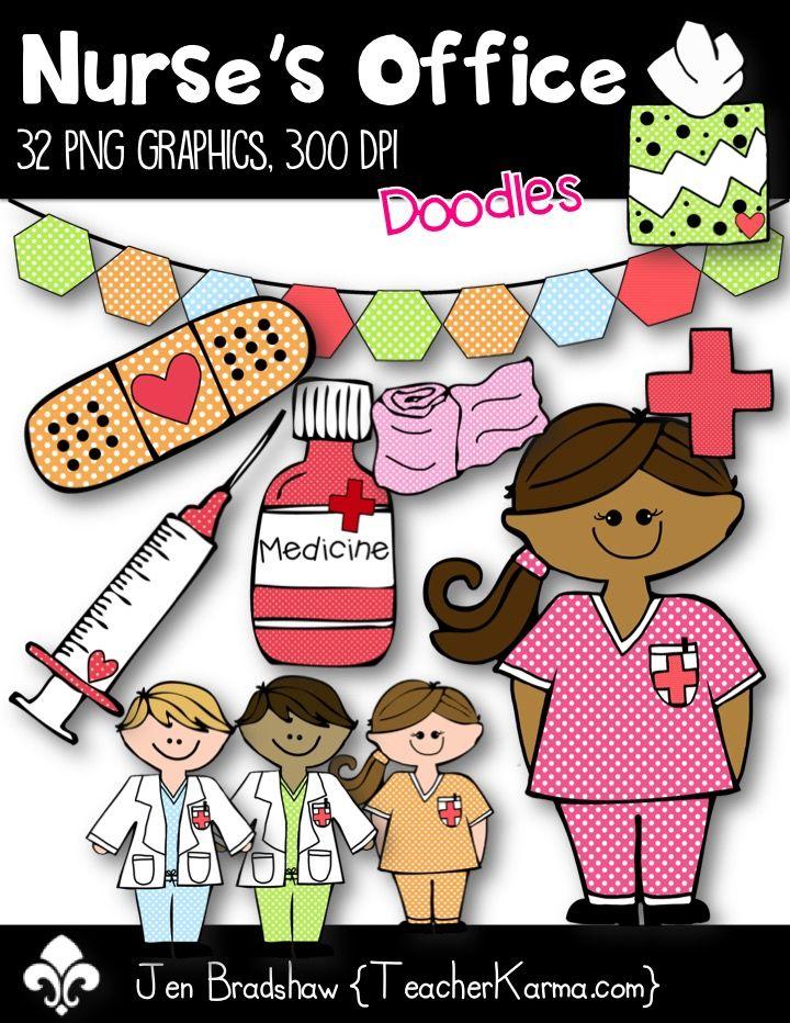 nurses office clip art perfect for school nurses or