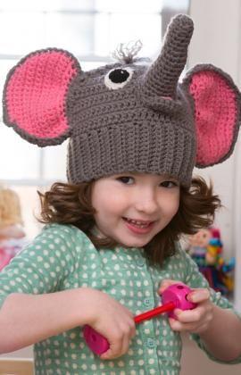 Elephant Hat Free Crochet Pattern from Red Heart Yarns