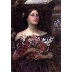 Verzamel de rozenknoppen studie - John Waterhouse
