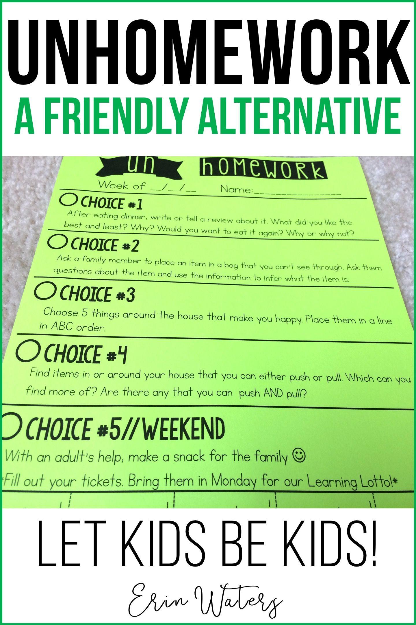 Un Homework The Friendly Homework Alternative