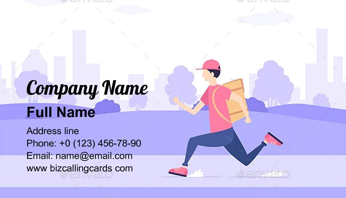 Delivery By Courier Business Card Template Business Card Template Card Template Cards
