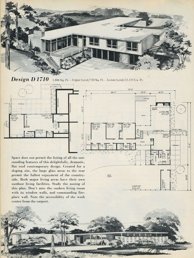 1969-house-designs-03 (With images) | Mid century modern ...