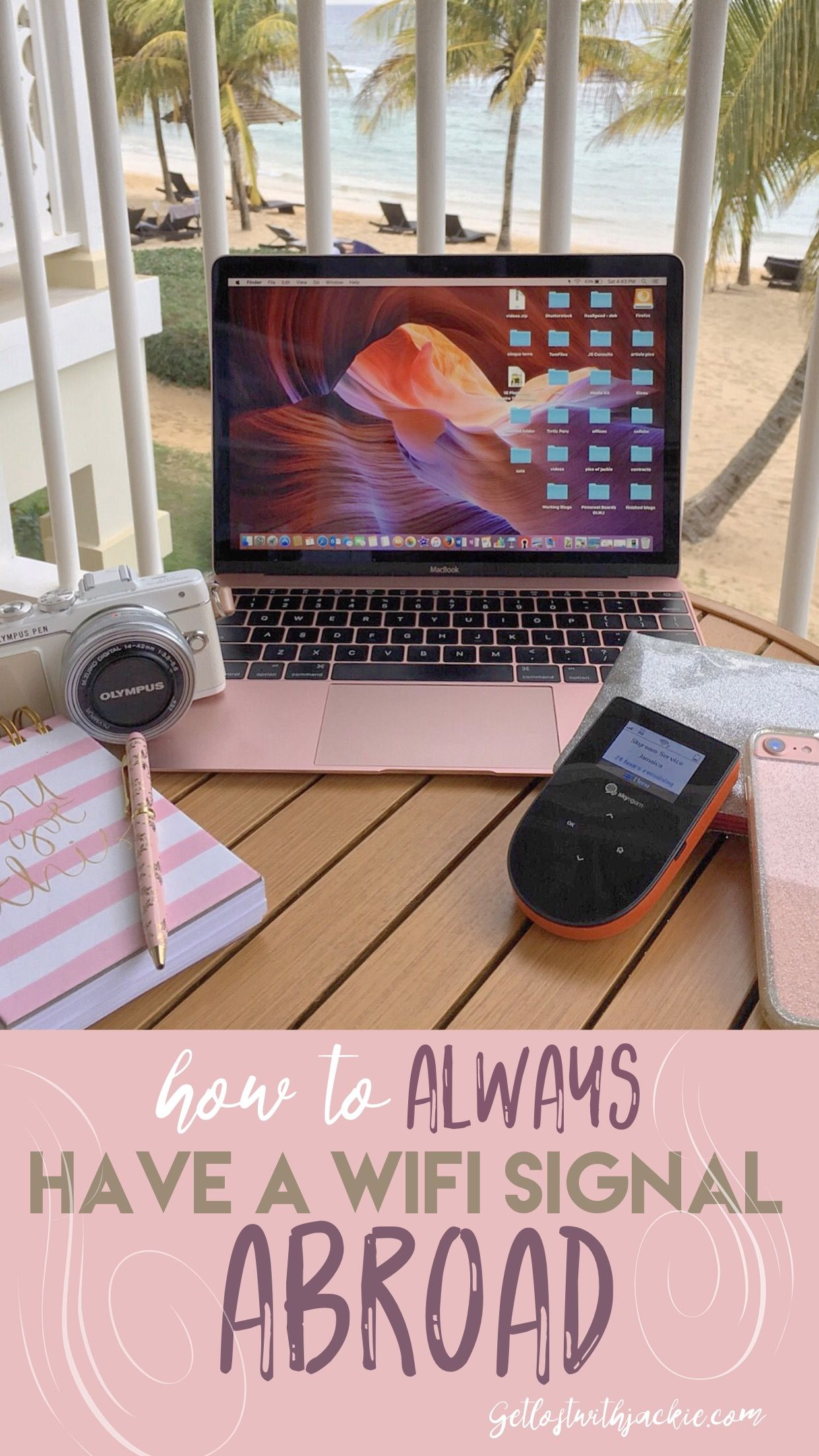 How to always have a wifi signal abroad. Staying connected abroad. International wifi. Portable wifi device. Skyroam. MySkroam. skyroaming.