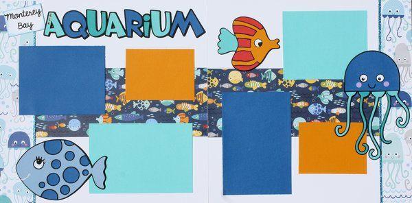 """12""""x12"""" layout kit: Monterey Bay Aquarium"""
