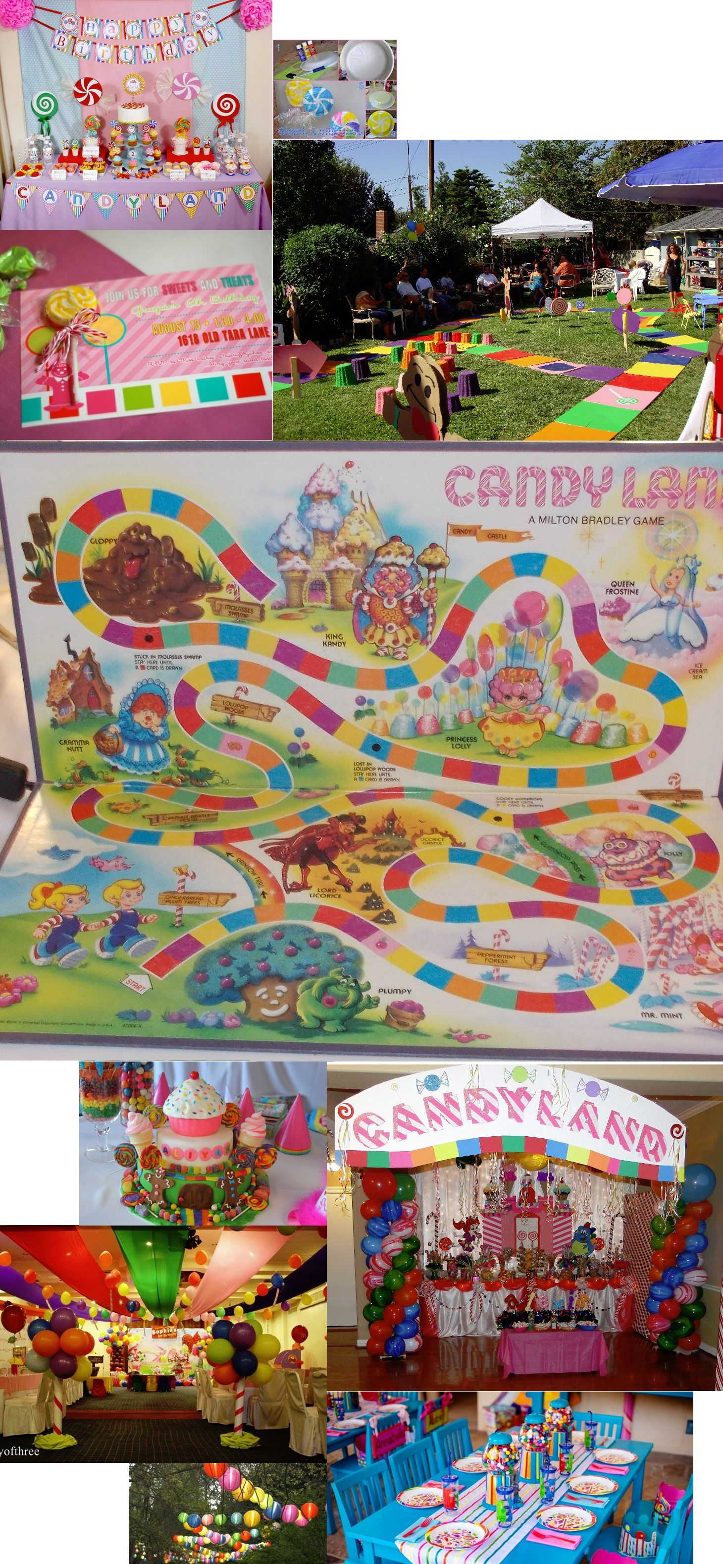 Candy Land Birthday Party Part Two Candyland Birthday Candyland Party Birthday Party Tables