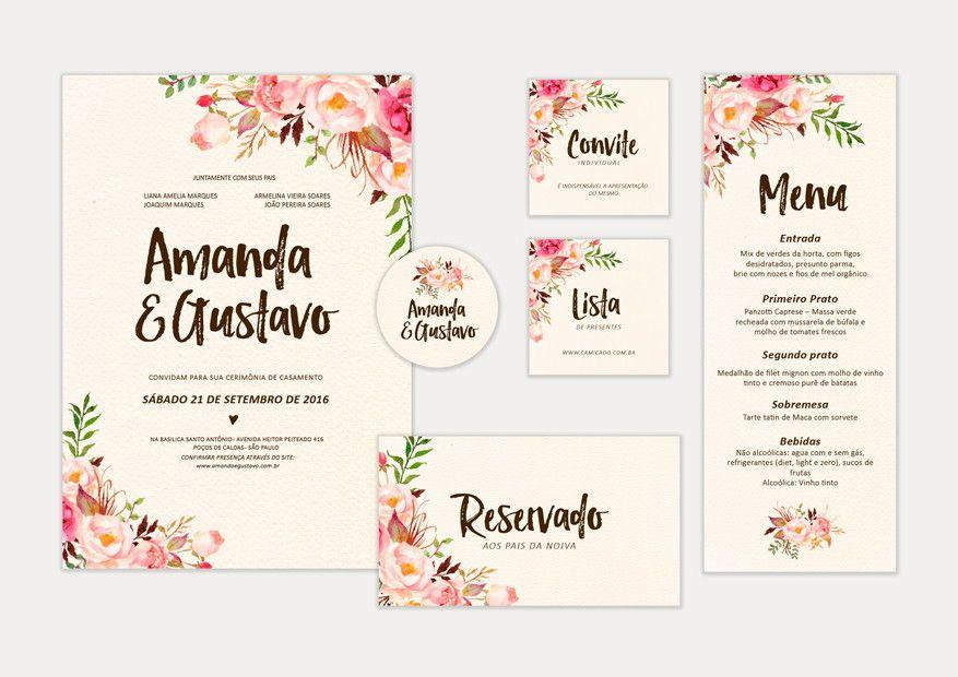 Identidade Visual Para Casamento Arquivos Digitais Para