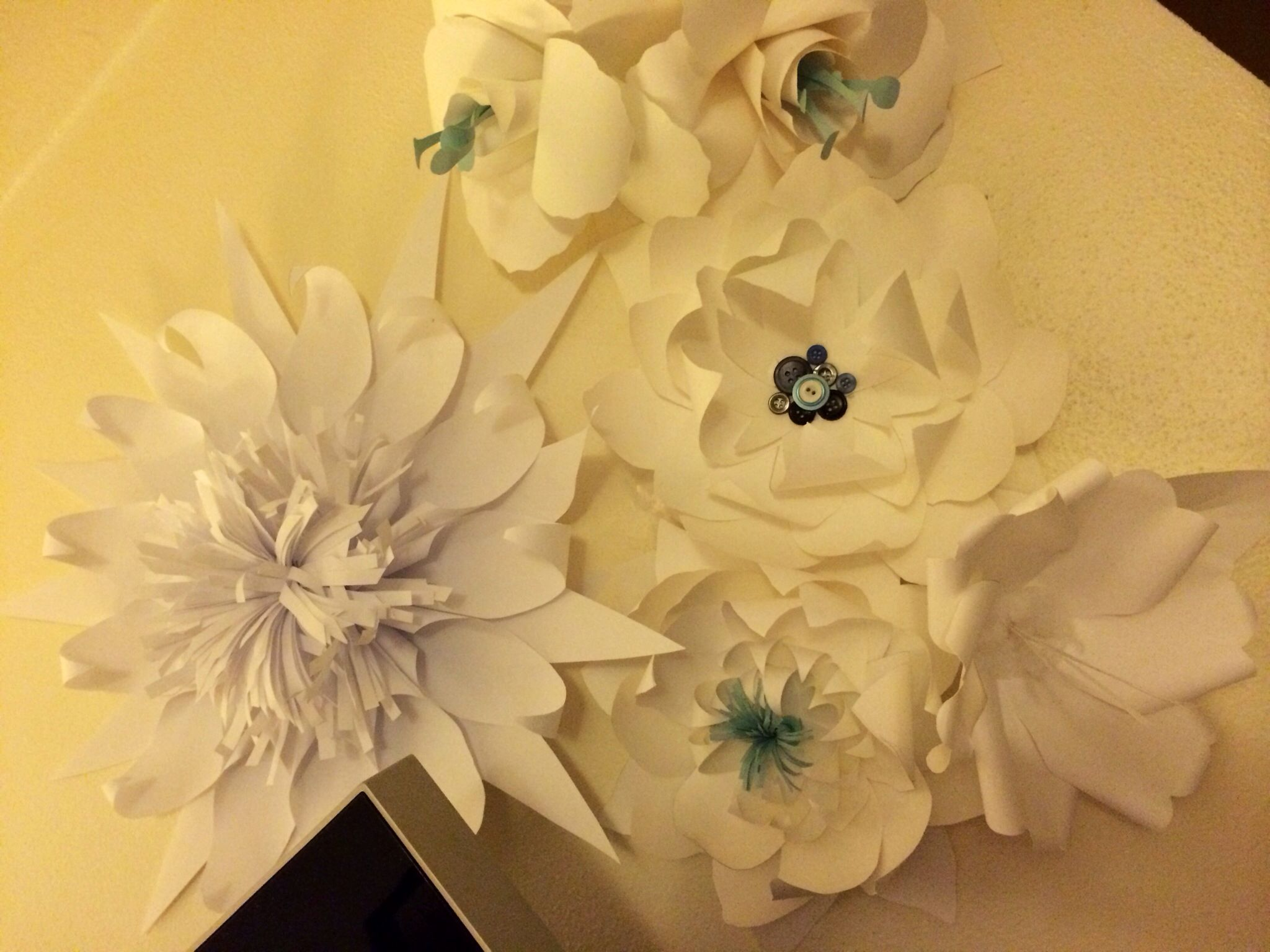 And More Paper Flowers Our Diy Wedding Projects Pinterest