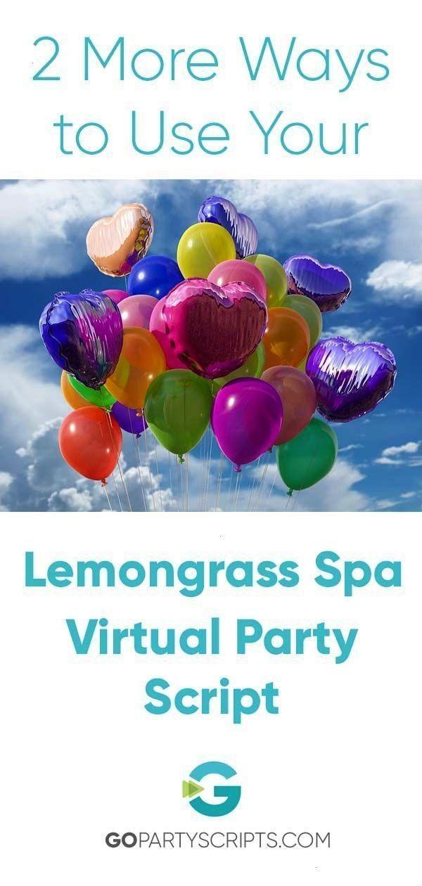 limoncillo Los guiones de fiesta temática virtual de Lemongrass Spa son ultra versátiles Echa un vistazo a 2 formas más de usar tu fiesta temá...