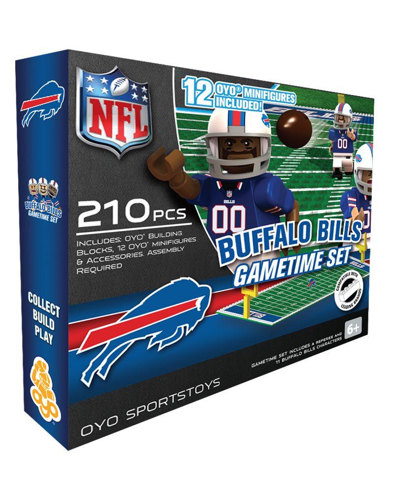 Oyo Minifigures National Football League Gametime Set Nfl Buffalo Bills Buffalo Bills Game Buffalo Bills