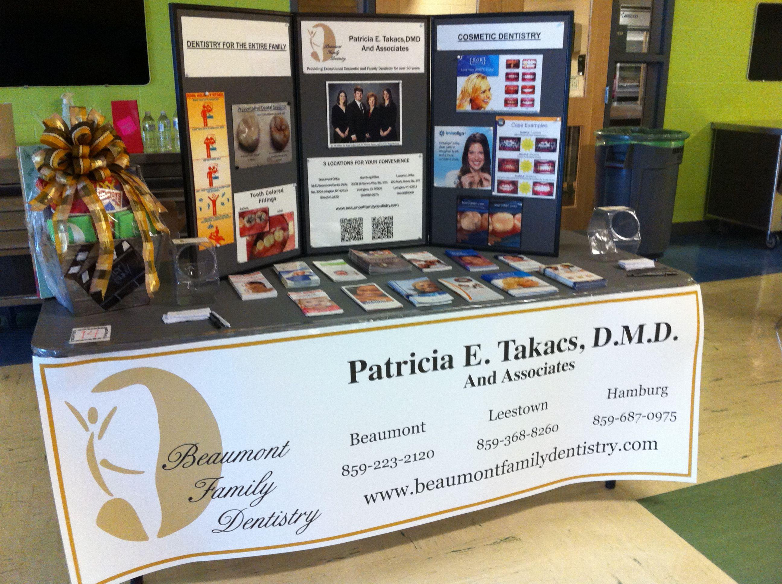 Our Table Set Up At The Leestown Middle Schools Community Health Fair Lexington