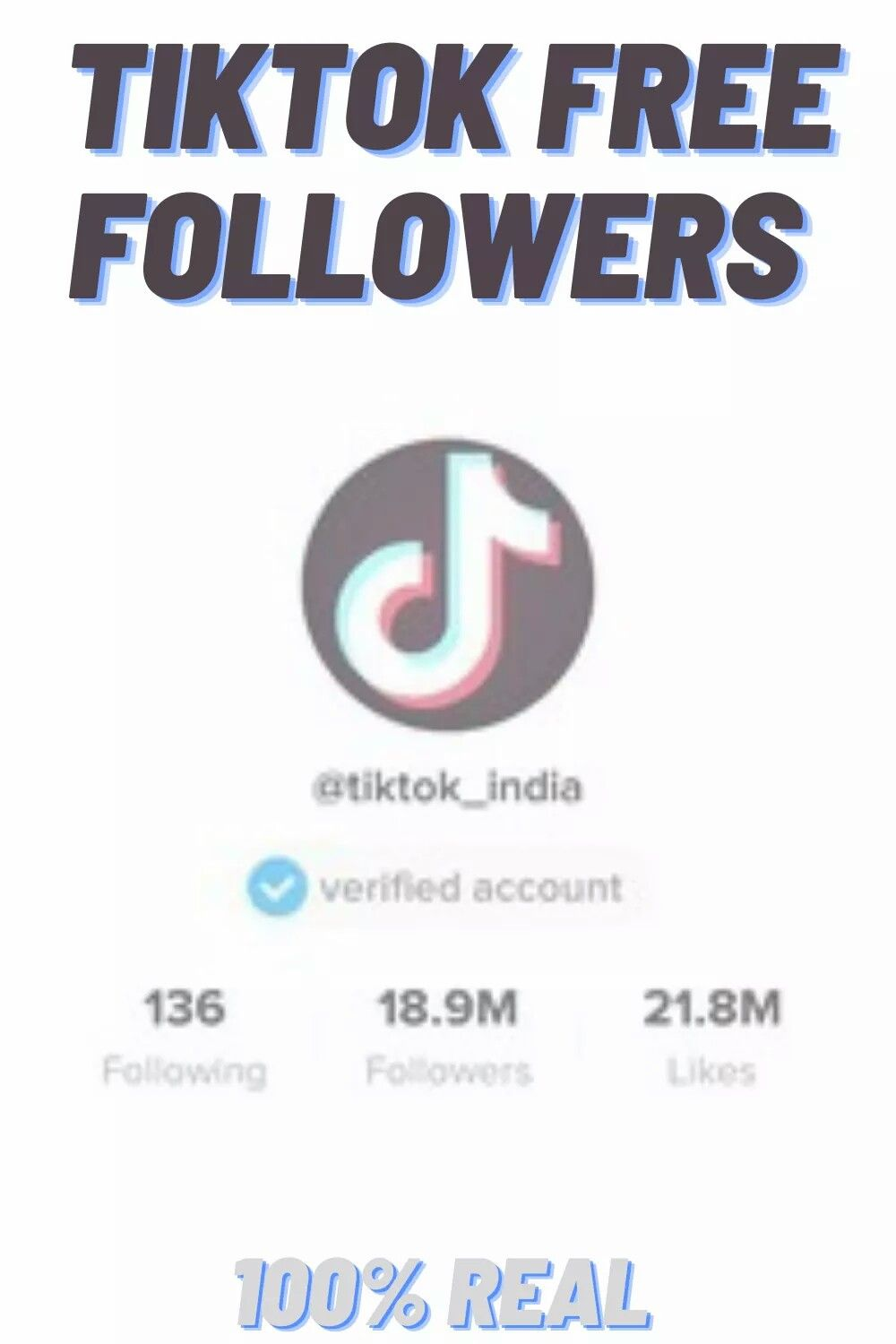 How To Get Free Followers Tiktok And Become Famus Free Followers Free Following