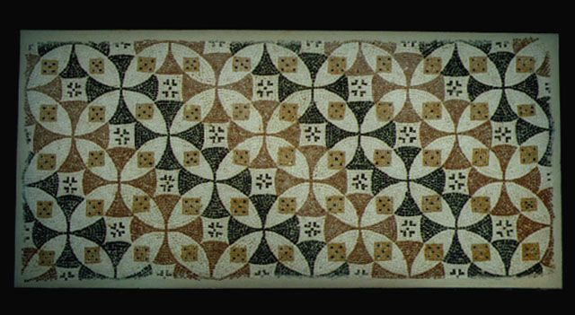 "Roman-Byzantine Mosaic Panel - PF.5312 Origin: Mediterranean Circa: 300 AD to 600 AD Dimensions: 27.5"" (69.9cm) high x 57.875"" (147.0cm) wide Collection: Classical Medium: Mosaic"