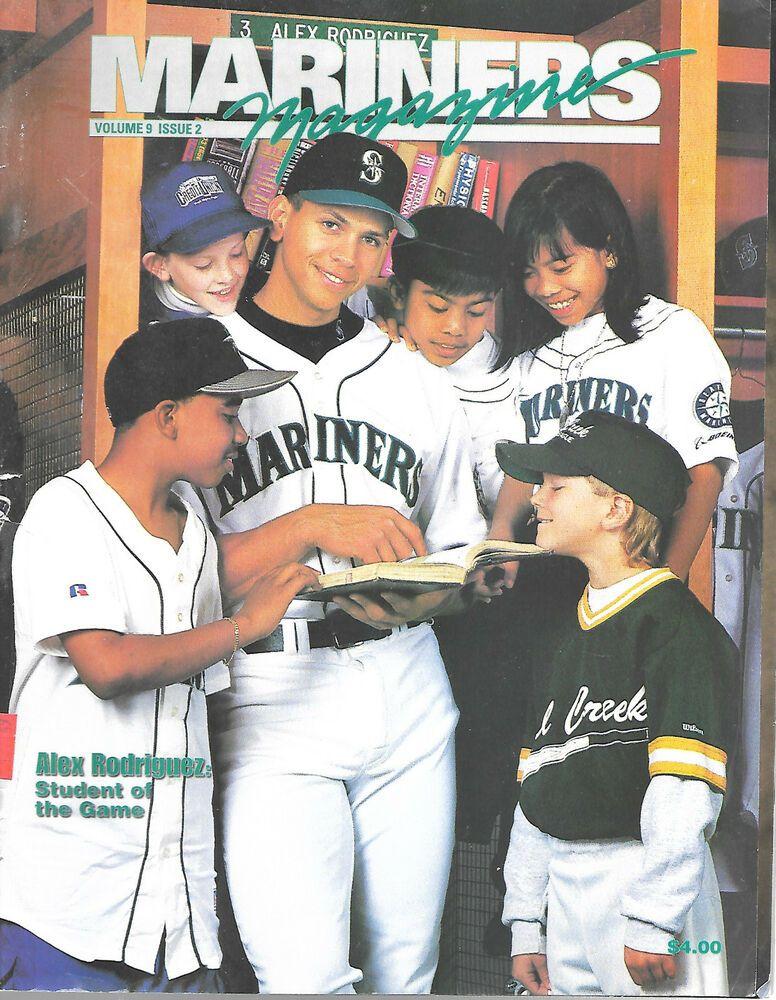 a0fe3e31be 1998 Seattle Mariners Magazine Volume 9 No 2 Alex Rodriguez A-Rod Seattle # SeattleMariners