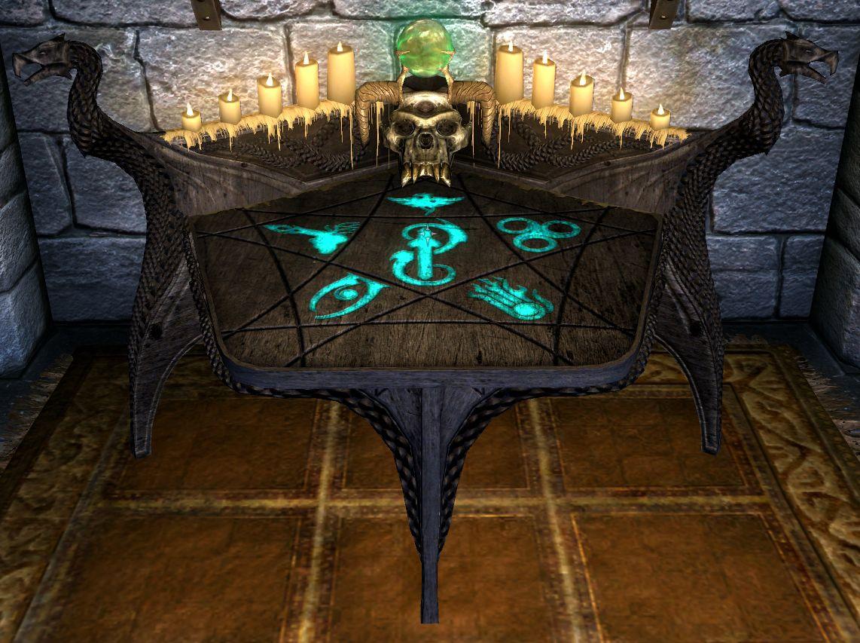 Enchanting Table Skyrim Hobbies Elders Scrolls Diy
