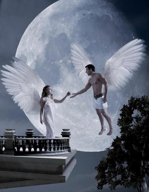 Открытки с ангелом мужчина