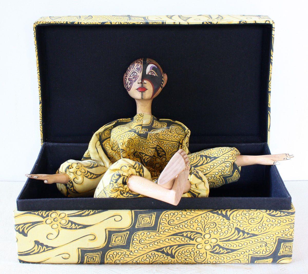 Vintage Indonesian Batik Tattoo Doll 'Boneka Doll