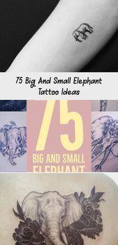 Photo of 75 grandes et petites idées de tatouage d'éléphant – artisanat plus brillant #simplesunflowertat …
