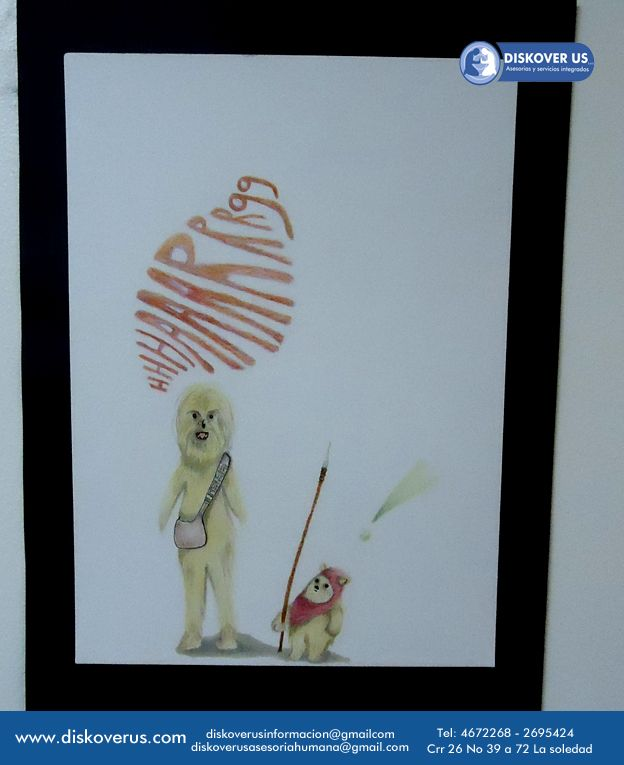 Chewbacca y Ewoks por Jenn Rodriguez