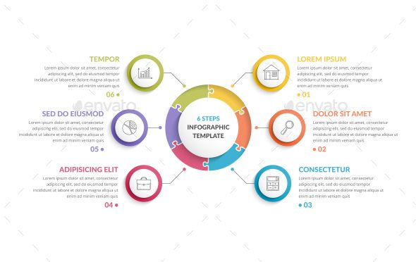 Puzzle Infographics Infographics Circle Infographic Template