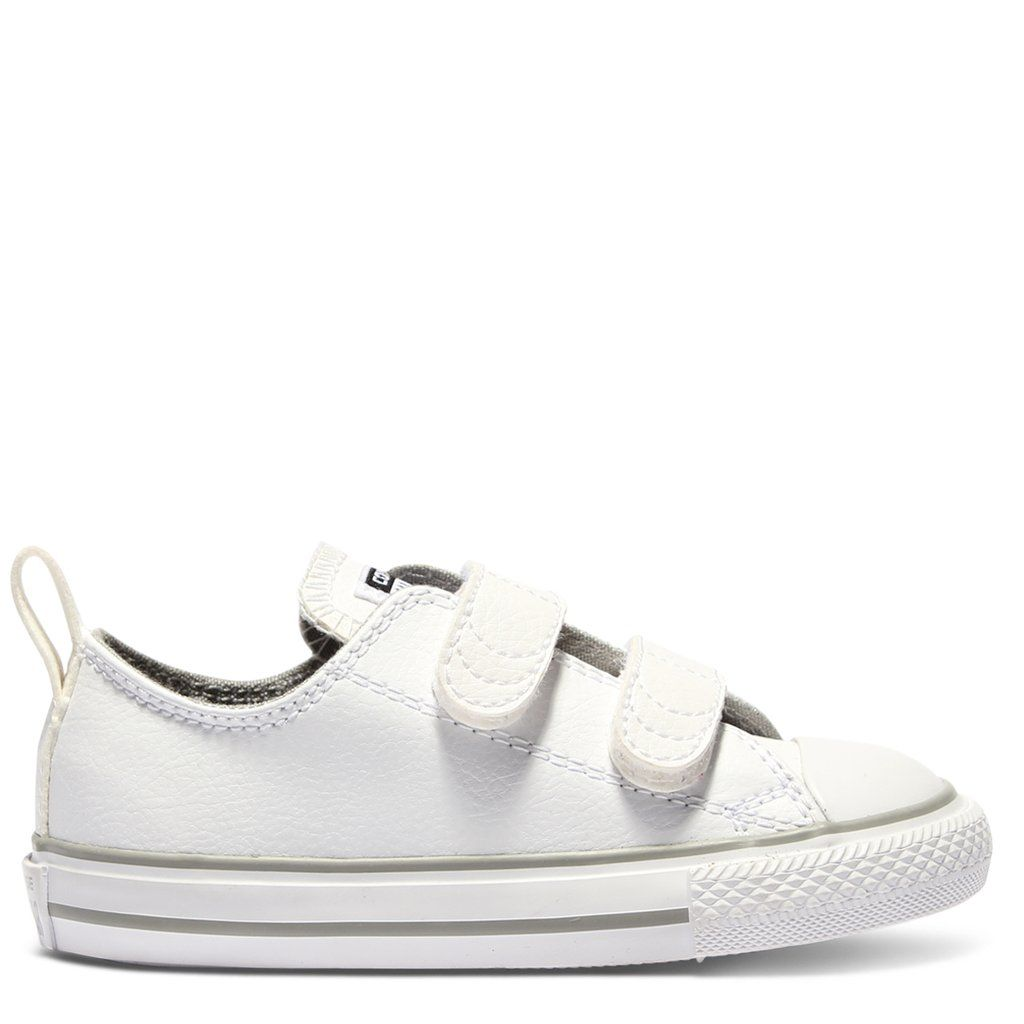 Converse Kids Chuck Taylor All Star Leather Toddler 2V White  2ef8e1d62