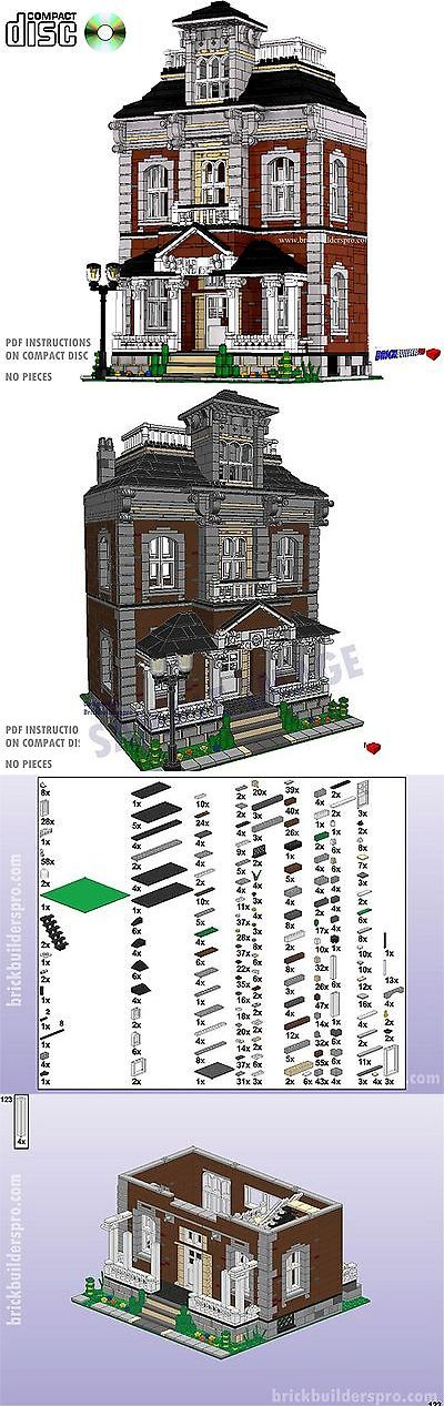 Cd Hilltop Manor Victorian House Lego Custom Pdf Book Instructions