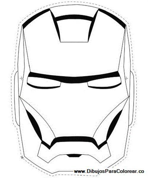 Cara De Iron Man Para Pintar Buscar Con Google Fiesta De Dany