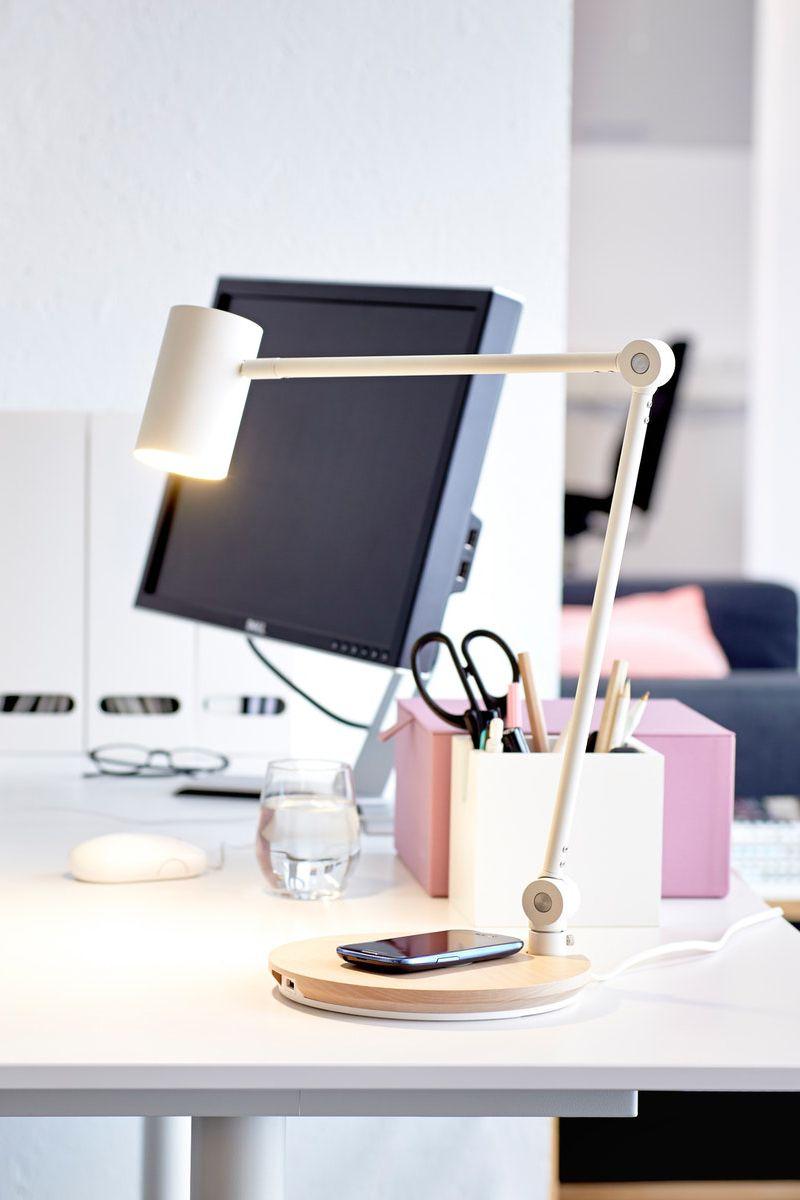 Riggad Arbeitsleuchte Led Mit Ladefunktion Weiss Ikea Deutschland Arbeitsleuchte Tischleuchte Led