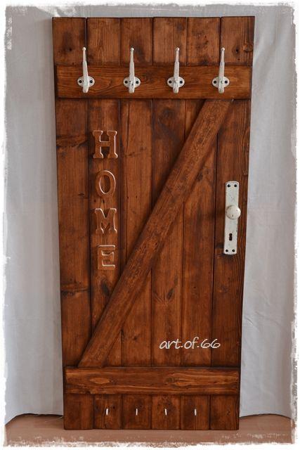 Alte Tür Als Garderobe garderobe aus alten brettern alte tür shabby landhaus türen