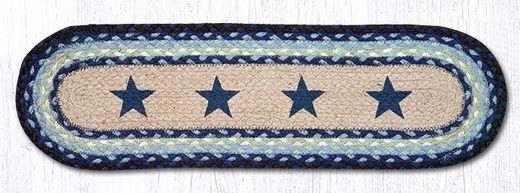 Best St Op 312 Blue Stars Oval Stair Tread 27 X8 25 Stair 400 x 300