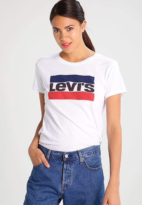 Vetements Levi S The Perfect T Shirt Imprime White Blanc 29 00