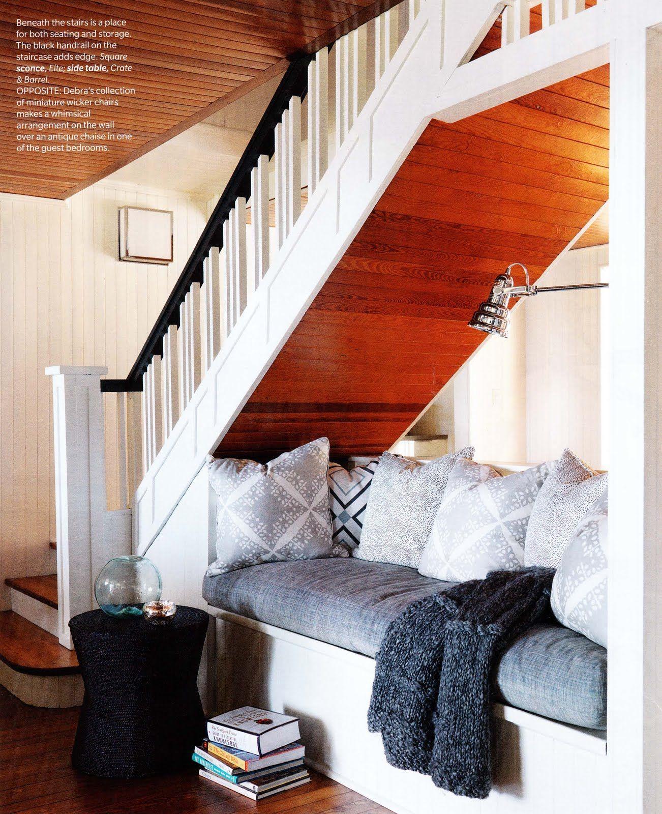Escaleras Dpto Pinterest Sof Bajo Bajo Las Escaleras Y  # Muebles Debajo De Gradas