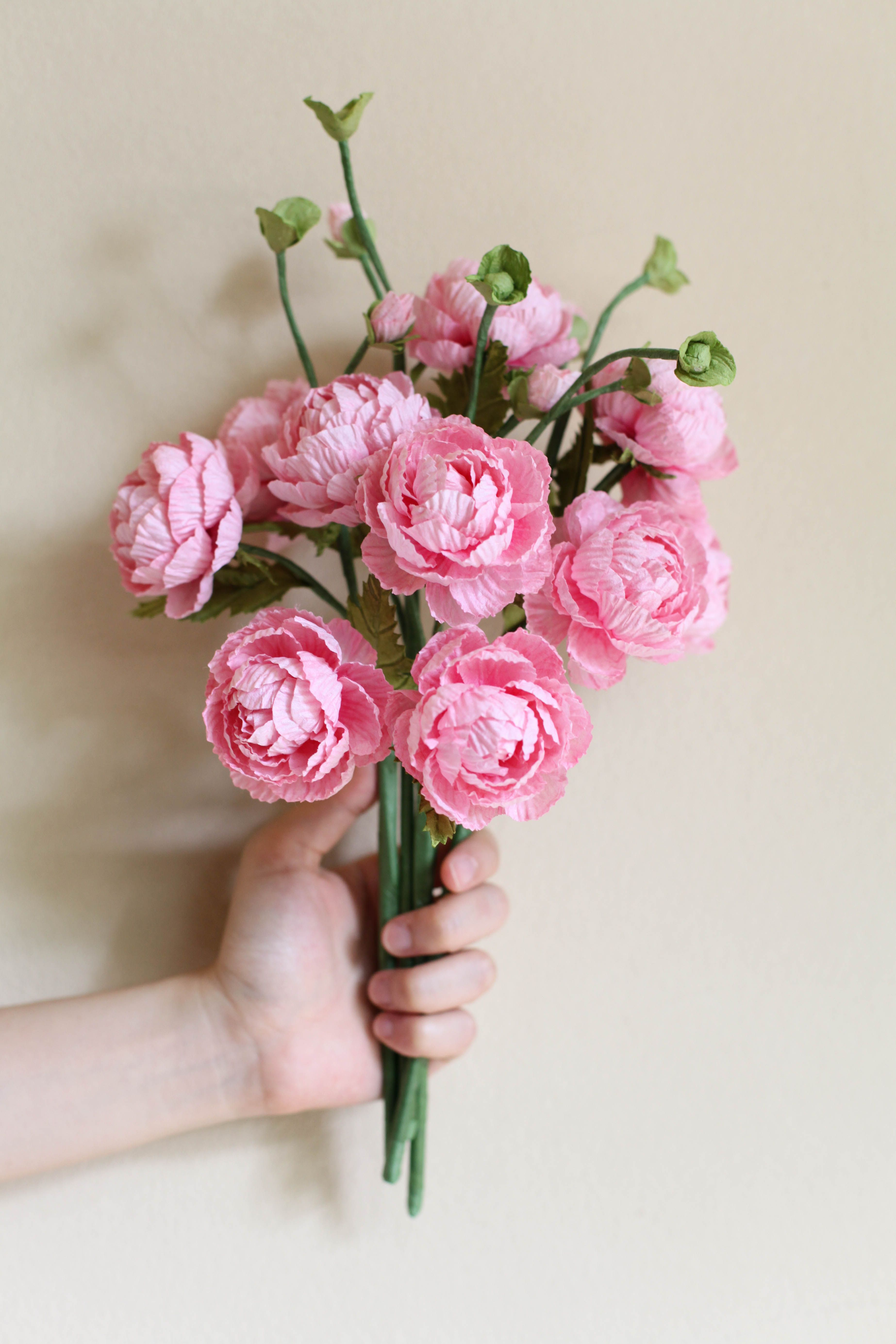 Paper Flowers Wholesale Flowers Mini Ranunculus R A P E R