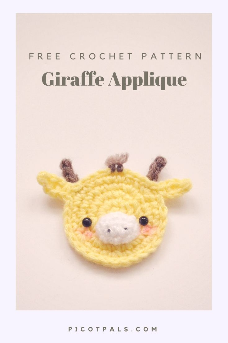 Free Giraffe Applique Crochet Pattern   Applikationen häkeln ...