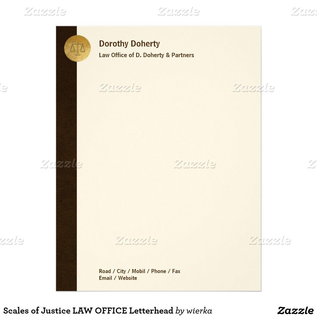 elegant scales of justice law office letterhead branding pinterest