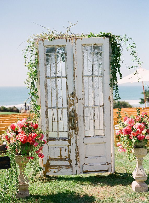 wedding ceremony backdrop with doors outdoor wedding ceremony backdrops doors photo john. Black Bedroom Furniture Sets. Home Design Ideas