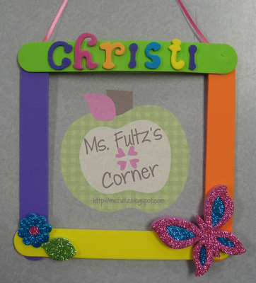 Mother\'s Day Foam Frame Craft Idea from Ms. Fultz\'s Corner   PTA ...