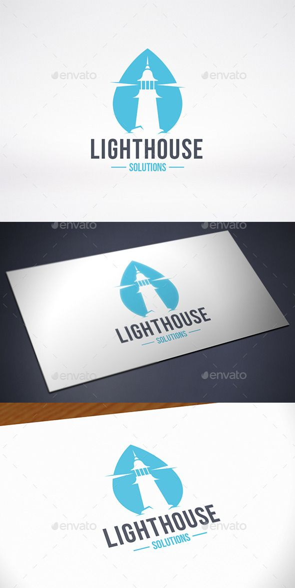 Lighthouse Water Logo Template | Water logo, Building logo and ...