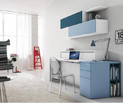 ce bureau se transforme en lit une place id al pour. Black Bedroom Furniture Sets. Home Design Ideas