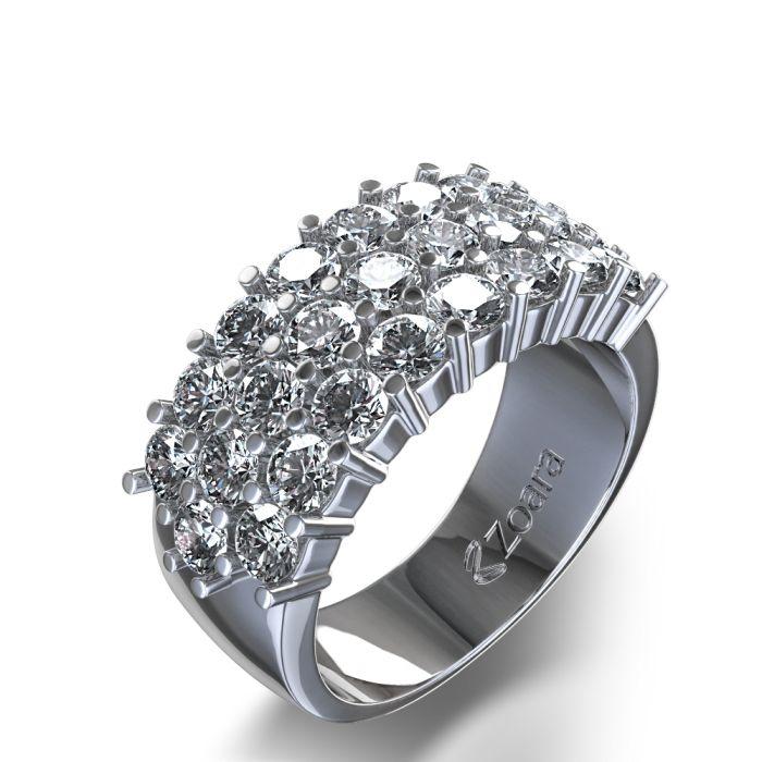 Yes, Yes, Yes! Three Row 3/4 ctw Diamond Ring | Wedding Rings ...