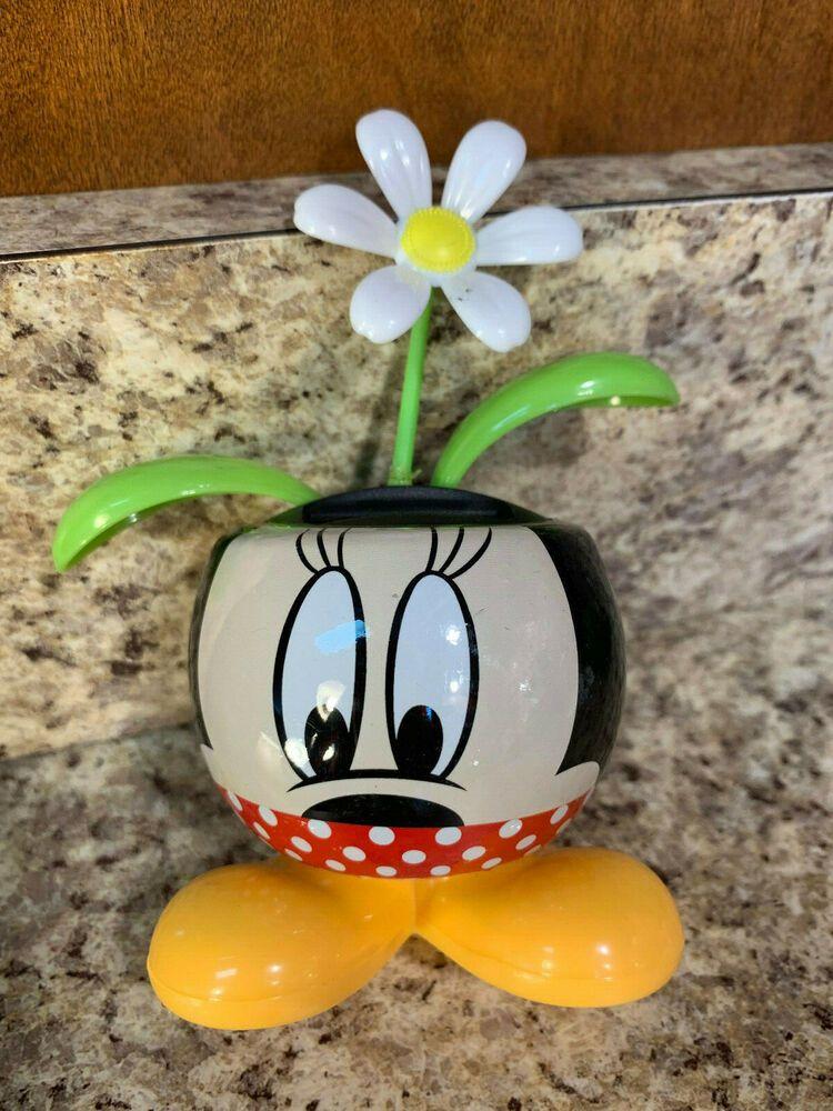 Disney Parks Minnie Mouse Dot Flower Pot w/Solar Powered -RARE WHITE FLOWER #Disney & Disney Parks Minnie Mouse Dot Flower Pot w/Solar Powered -RARE WHITE ...